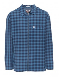 Tommy Jeans camisa tipo chaqueta para hombre azules