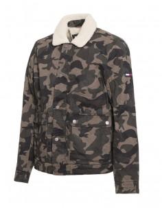 Tommy Hilfiger chaquete hombre cuello borrego - estampado militar