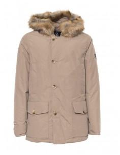 Refrigue parka para hombre invernal con capucha - kaki