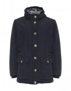 Refrigue parka para hombre invernal con capucha - black