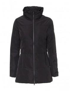 Refrigue abrigo acolchado para mujer - negro