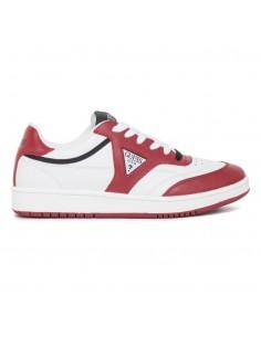 Zapatillas Guess para hombre tipo retro basket - blancas y rojas