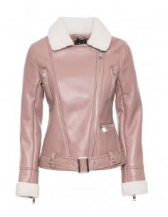 Guess chaqueta shearling mujer - rosa