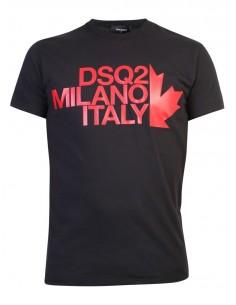 Camiseta para hombre MILANO ITALY - negra