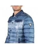 Chaqueta Guess acolchada para hombre - efecto denim azul