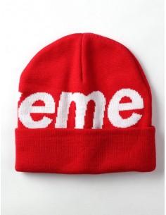 Gorro Supreme Big Logo - rojo