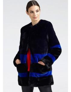 Guess abrigo peluche sintético - negro/azul