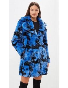 Guess jeans abrigo peluche mujer - azul