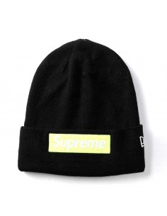 Gorro Supreme patch logo - black