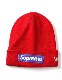 Gorro Supreme patch logo - red