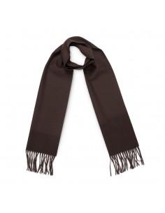 Moschino - bufanda de lana para hombre - marrón oscuro