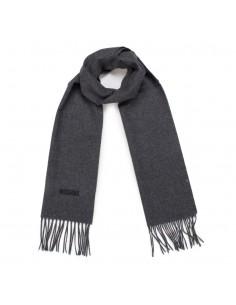 Moschino - bufanda de lana para hombre - gris oscuro
