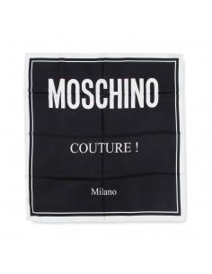 Moschino foulard de seda unisex - black coulture