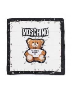 Moschino foulard de seda unisex - white teddy