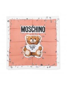 Moschino foulard de seda unisex - rosa teddy
