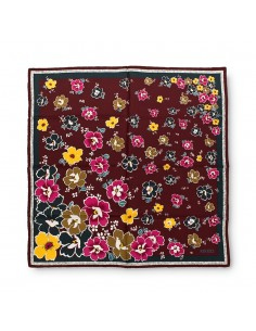Kenzo foulard de seda mujer estampado burdeos