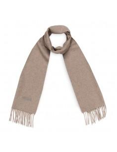 Moschino - bufanda de lana unisex color marrón creta