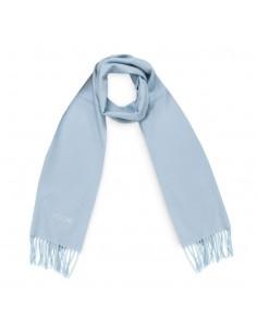 Moschino - bufanda de lana unisex color azul claro