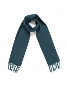 Moschino - bufanda de lana unisex color petroleo