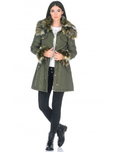 Guess by marciano parka para mujer - verde