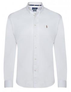 Camisa oxford Polo de hombre custom fit - blanca