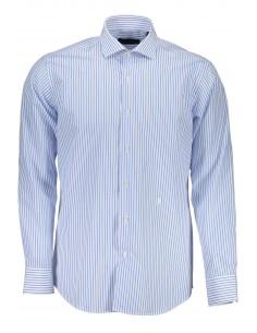 Camisa Trussardi para hombre de rayas azul claro
