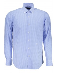 Camisa Trussardi para hombre en estampado micocheck - blue