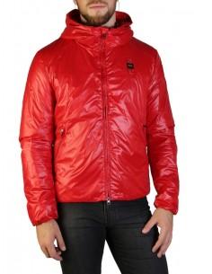 Blauer chaqueta con forro acolchado para hombre - roja