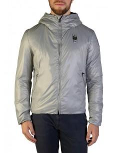 Blauer chaqueta con forro acolchado para hombre - gris plata