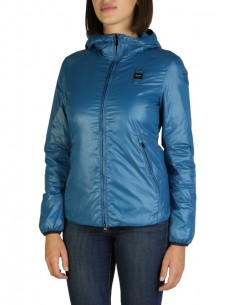 Blauer chaqueta acolchado interior para mujer - azul