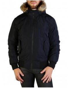 Refrigue parka corta para hombre invernal con capucha - navy