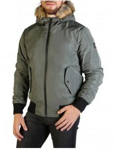 Refrigue parka corta para hombre invernal con capucha - army