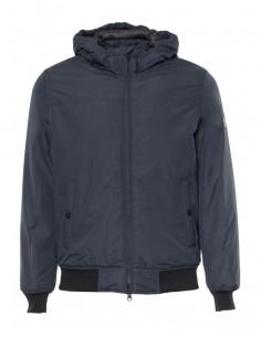 Refrigue chaqueta para hombre tipo bomber con capucha - navy