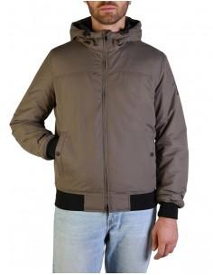 Refrigue chaqueta para hombre tipo bomber con capucha - red