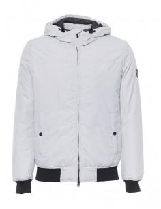 Refrigue chaqueta para hombre tipo bomber con capucha - Ice grey