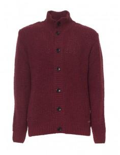 Chaqueta Gant de lana texturizada - granate