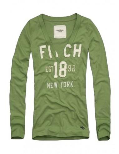 Camiseta Abercrombie para mujer en color verde
