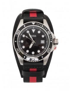 Reloj Guess hombre negro y rojo con correa resistente