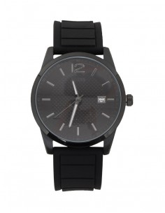Reloj Guess hombre con correa de silicona en negro