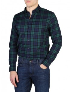 Camisa Tommy Hilfiger plaid navy/green