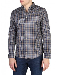 Camisa Tommy Hilfiger plaid brown