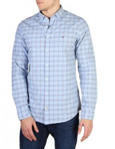 Camisa Tommy Hilfiger plaid blue