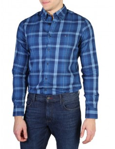 Camisa Tommy Hilfiger plaid royal blue