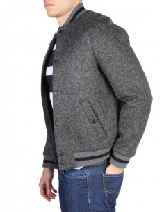 Tommy Hilfiger chaqueta bomber universitaria - gris