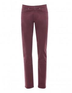 Gant - pantalón 5 bolsillos de algodón elástico - granate