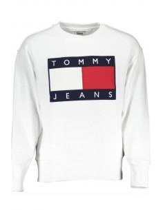 Tommy Hilfiger sudadera icónica para hombre - blanca