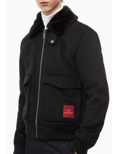 Calvin Klein chaqueta combinada - black