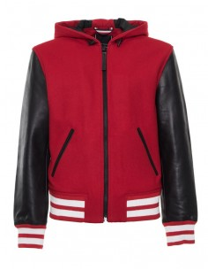 Tommy Hilfiger chaqueta universitaria en piel - red/black