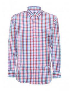 Camisa Paul Shark para hombre de cuadros - azul/rojo/blanco