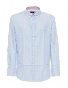 Camisa Paul Shark para hombre estampado a rayas finas - azul